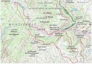 Proposta de passejada per la muntanya de Montserrat