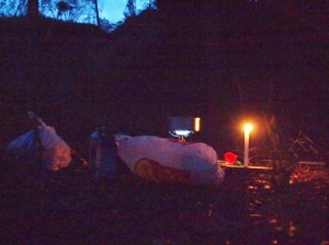 El campament de nit