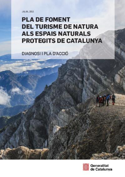"""Portada del """"Pla de foment del turisme de natura als espais naturals protegits de Catalunya"""". Fotografia de Xavier Cazorla."""