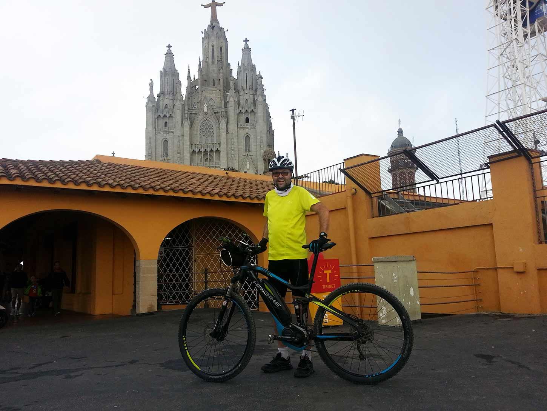Ruta bicicleta elèctrica Tibidabo